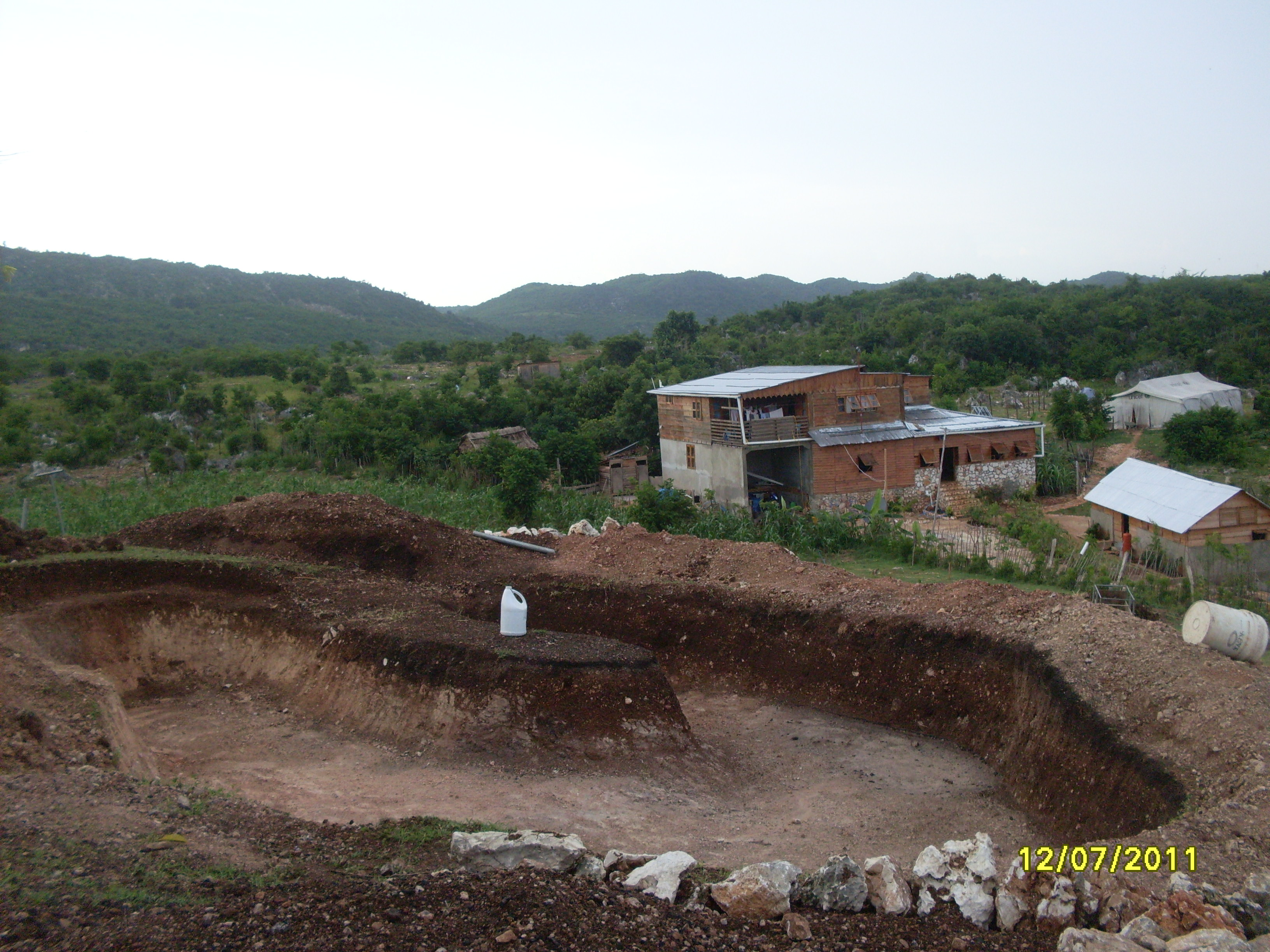 Self sufficiency agriculture project the r e a d foundation for Digging a garden pond